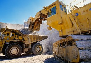 Large earth moving heavy equipment used in large construction jobs.